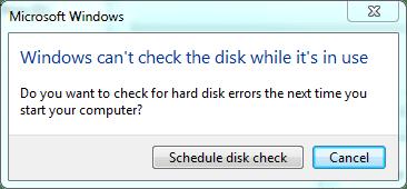 schedule next disk check