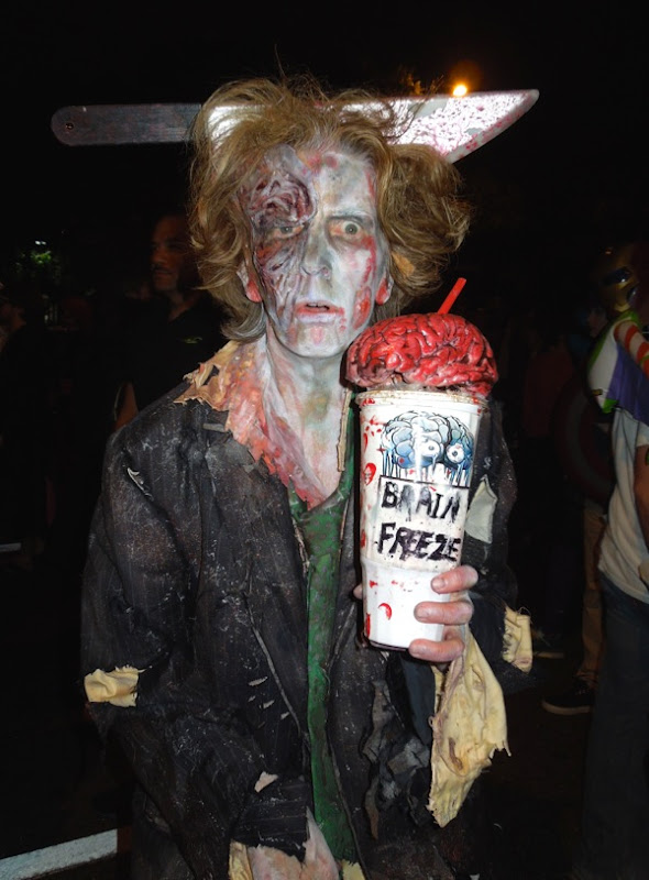 Brain Freeze zombie costume West Hollywood Halloween