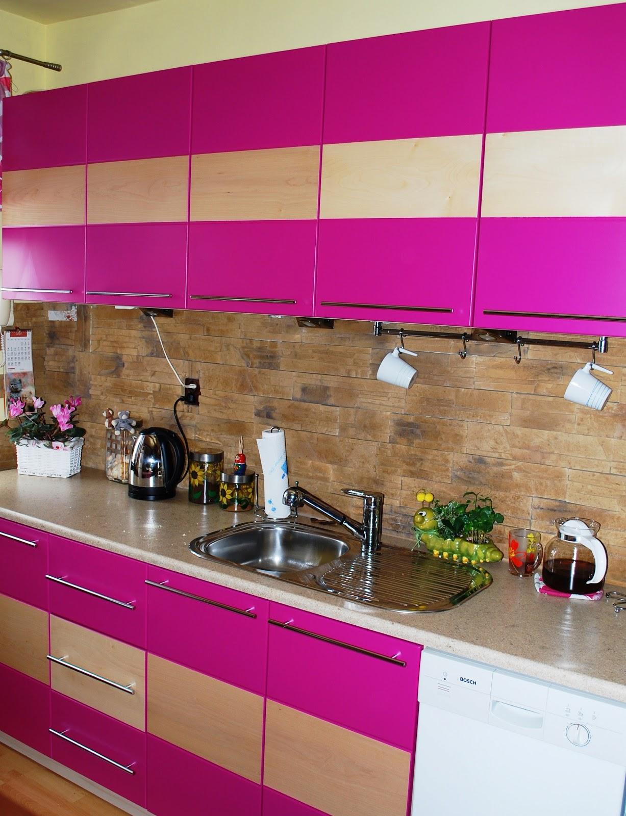Świat drewna Kuchenny róż  kuchnia pod zabudowę -> Kuchnia Pod Zabudowe Kwidzyn