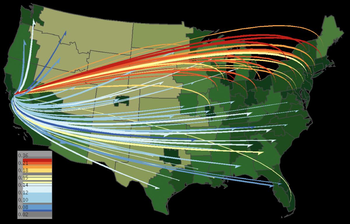 http www spatialdatamining org software flowmap