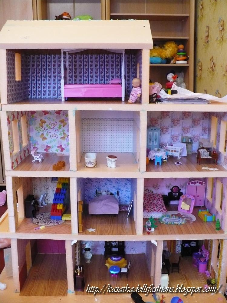 Домик с мебелью своими руками для кукол