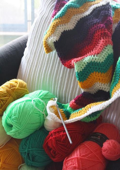 Crochet blanket WIP