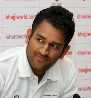 Dhoni charming