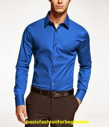 Blue shirt fashion