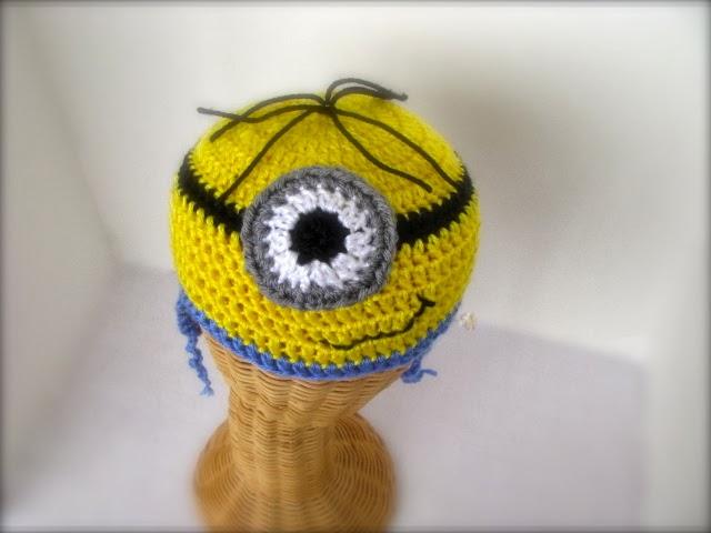 Free Crochet Pattern Minion Beanie : Bairbre Aine: Minion Crochet Beanie Completed!