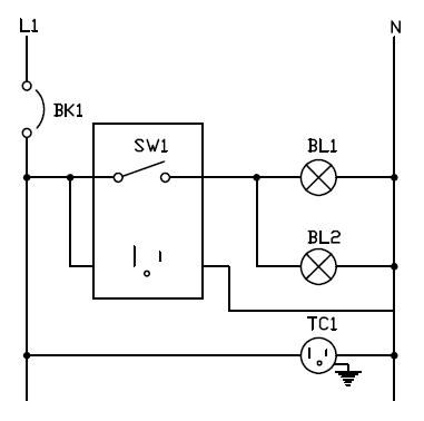 Conexion de interruptor tomacorriente