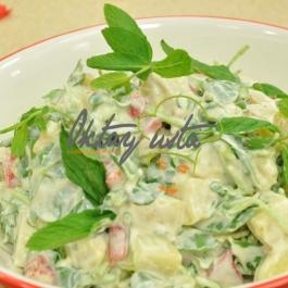 Hardallı Köz Biberli Patates Salatası Tarifi