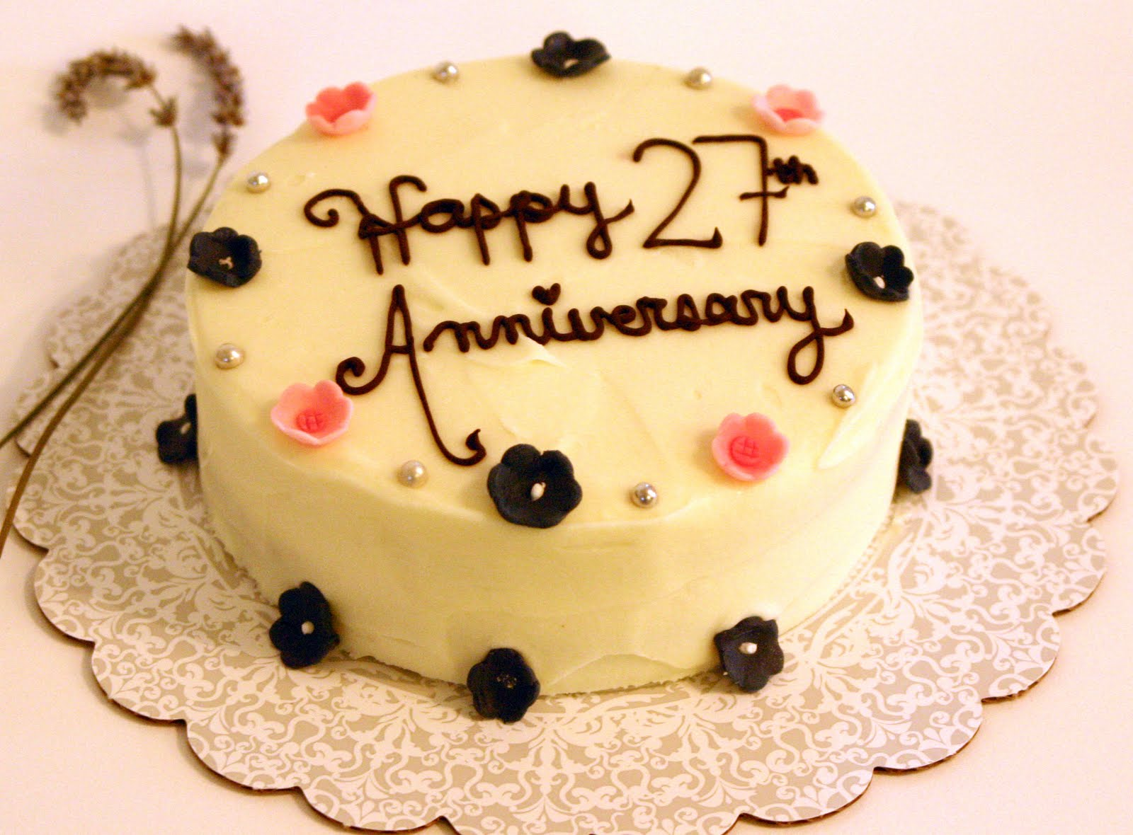 Happy 27th wedding anniversary cake images - My site Daot tk