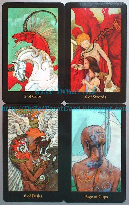 Mary El Tarot Minor Arcana Card Court cards suit numbered card ไพ่ยิปซีชุดเล็ก ไพ่ทาโร่ชุดเล็ก 2 Two of Cups 6 Six of Swords Six of Disks Pentacles Page ไพ่ไมเนอร์ เด็กถ้วย ไพ่สองถ้วย ไพ่หกเหรียญ ไพ่หกดาบ
