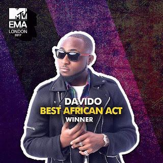 Davido wins 2017 EMA