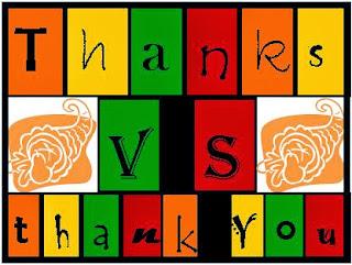 Thank you vs thanks