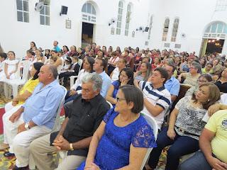 Imagens da 5ª noite de novena em honra ao Sagrado Coração de Jesus