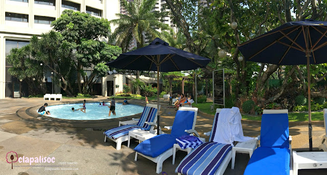 Intercontinental Hotel Manila Pool Side and Pool Area