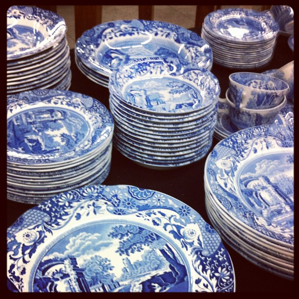Blue and white porcelain by habituallychic jpg