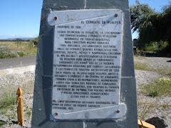 Monolito homenaje a la Batalla de Hualpén