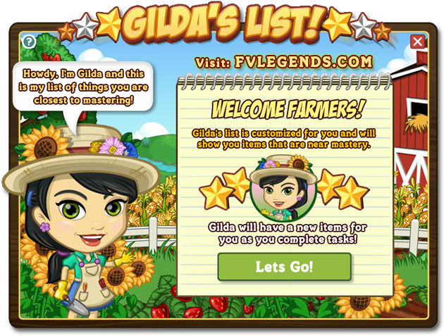 FarmVille Gilda&#8217;s List She&#8217;s Gonna tell you what to Master