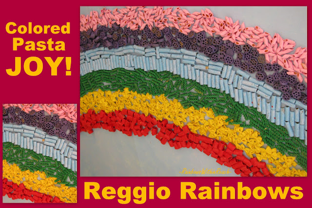 photo of: Rainbow Bulletin Board of Pasta (Created in Reggio Emilia, Italy) 