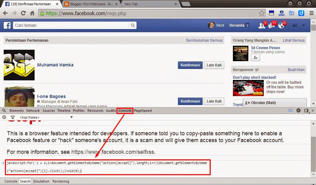 Cara Cepat Konfirmasi dan Hapus Permintaan Pertemanan Facebook