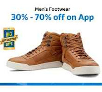 FLipkart : Buy Men's Footwear Flat 30% – 70% Off & Shoes Below Rs.399