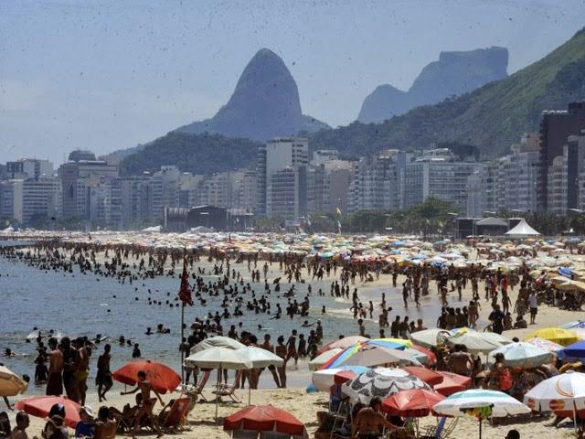 Praia de Copacabana, no Rio de Janeiro. Foto: Reprodução