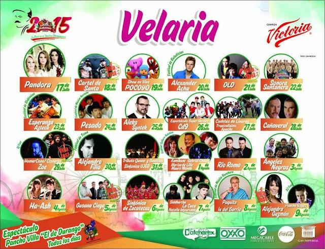 Feria Nacional de Durango 2015 velaría