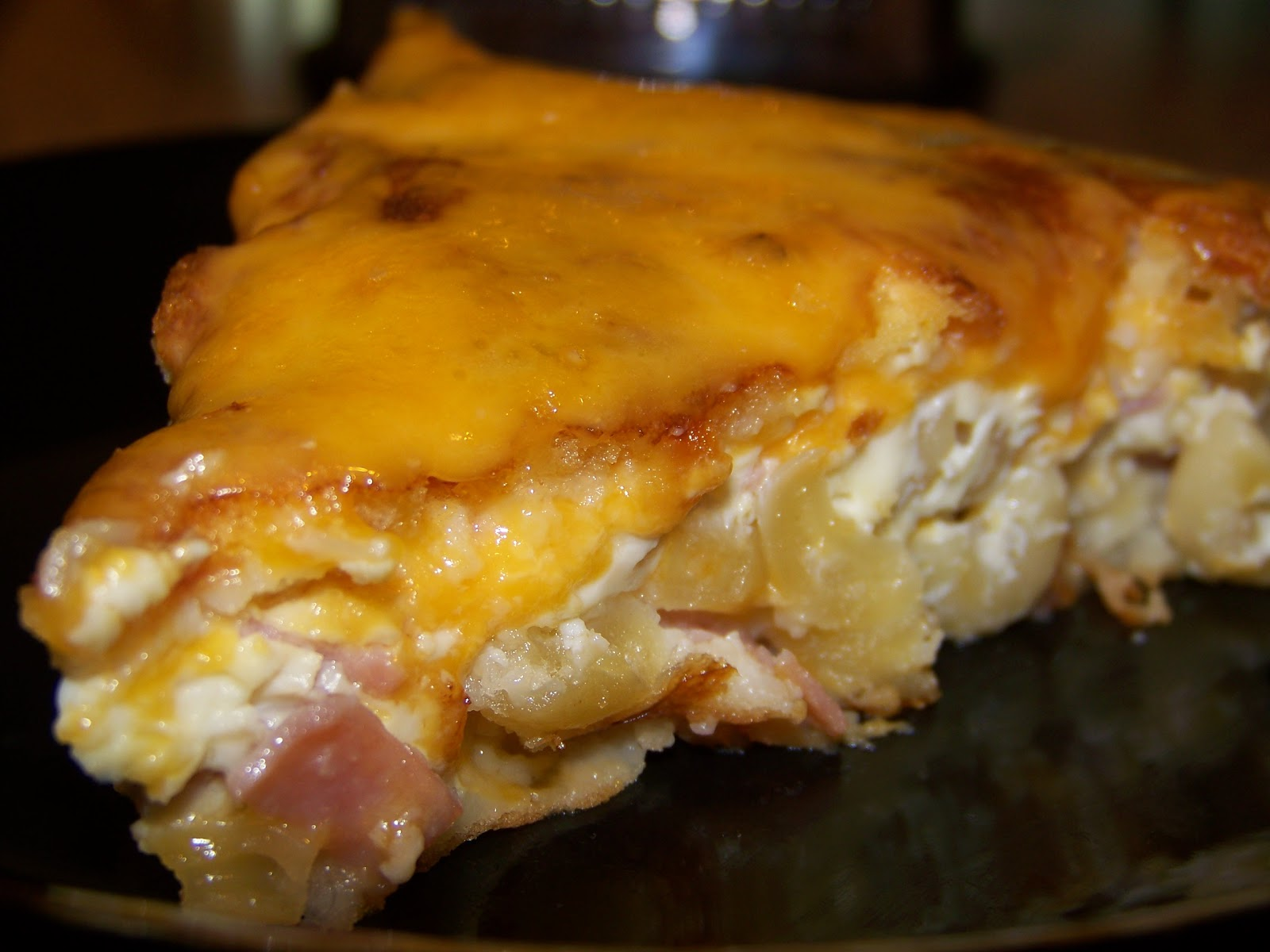 Stefanies Cooking Spot: Macaroni and Cheese Ham Pie