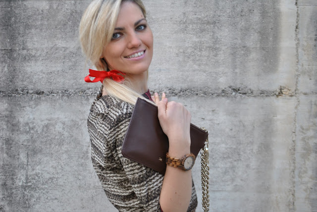 orologio in legno orologio in legno jord come abbinare un orologio in legno wooden watch how to wear a wooden watch  how to combine a wooden watch mariafelicia magno fashion blogger color block by felym fashion blog italiani fashion blogger italiane fashion blogger bergamo fashion blogger milano outfit novembre 2015 outfit autunnali fall outfit