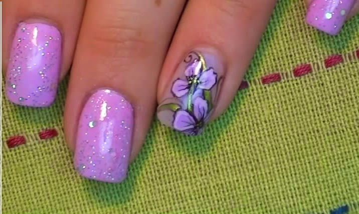 Nails Art Lavender Iris Fashion