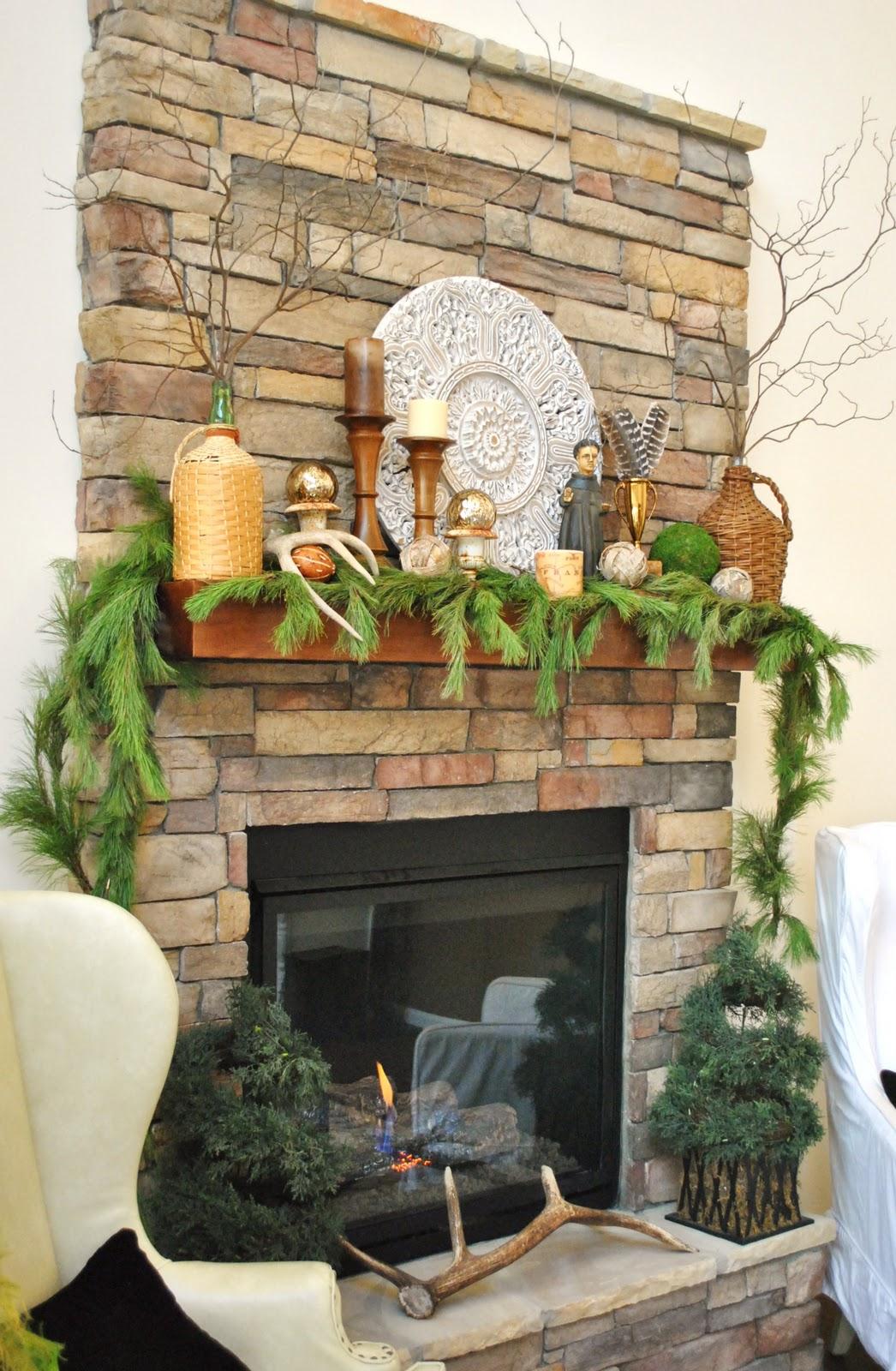 sophia 39 s rustic stone christmas mantel