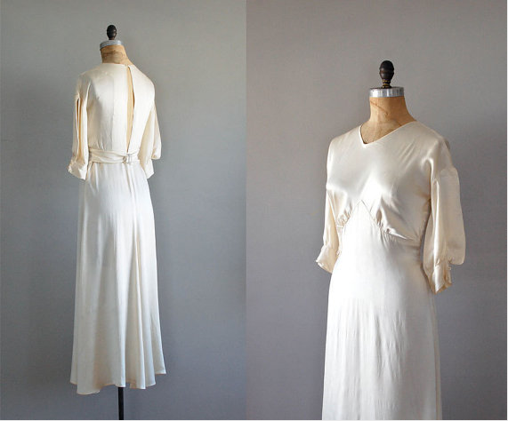 1930s silk wedding gown #wedding #1930 #silk
