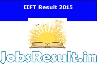 IIFT Result 2015