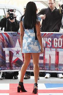 Alesha Dixon Leggy In A Blue Dress