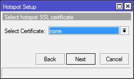 Memilih SSL certificate