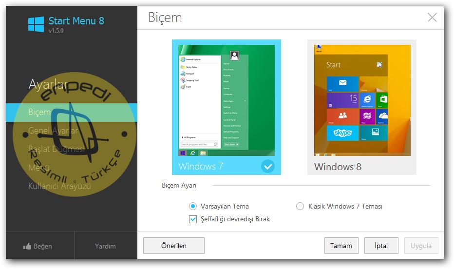 Как сделать на виндовс 8 меню пуск как в windows 7 для windows 8