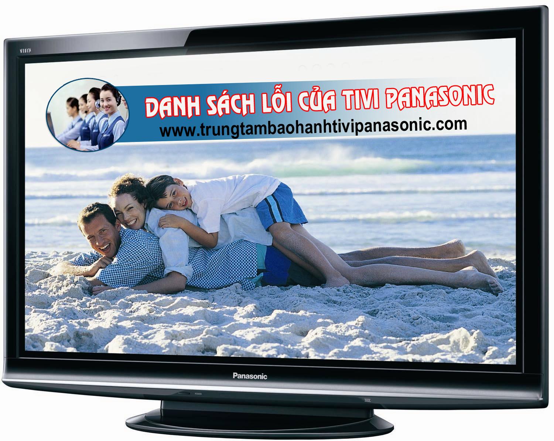 Danh sách lỗi thường gặp của tivi Panasonic