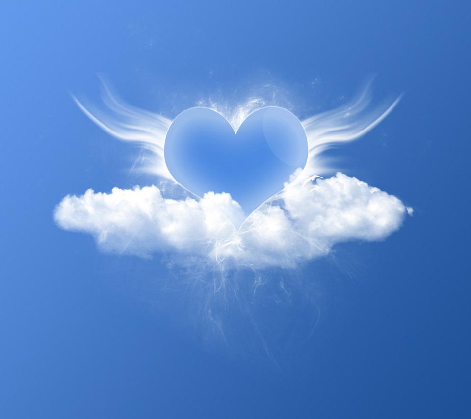 Blue love in the sky wallpaper, love ...