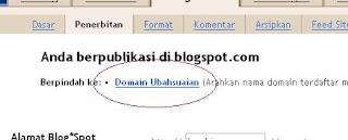 Mengubah Domain Blogspot