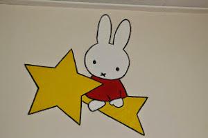 Muurschildering Nijntje