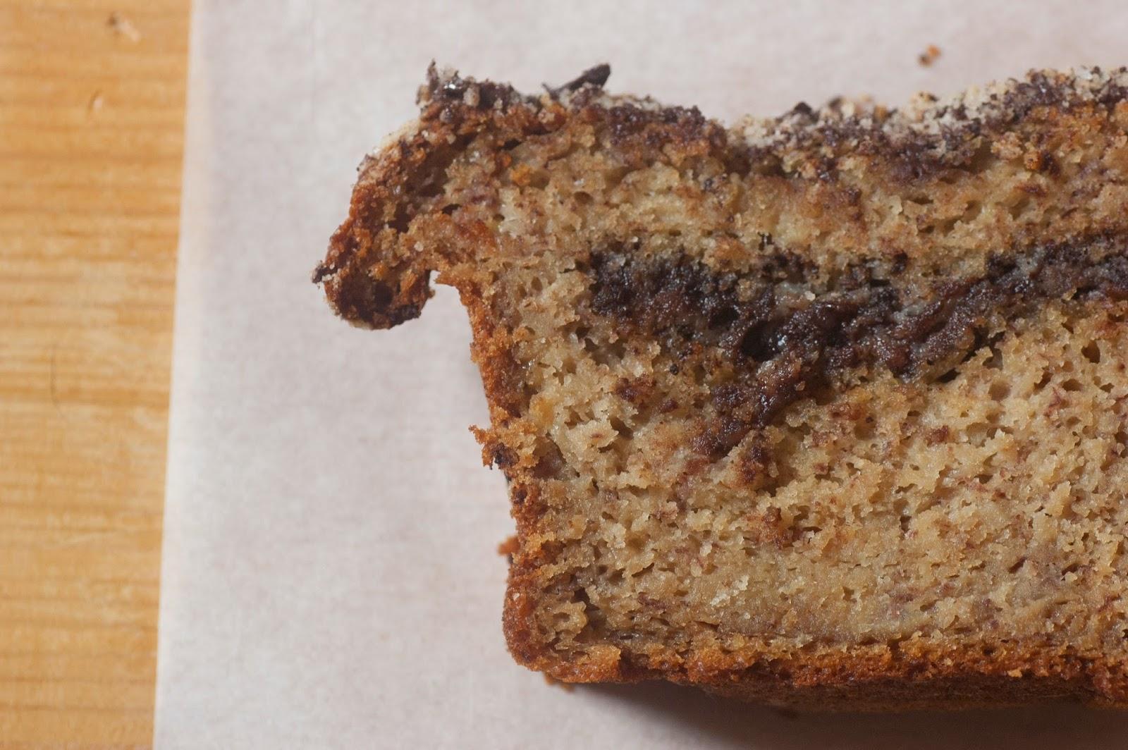 עוגת בננות, סילאן וטחינה בציפוי שטרוייזל שוקולד