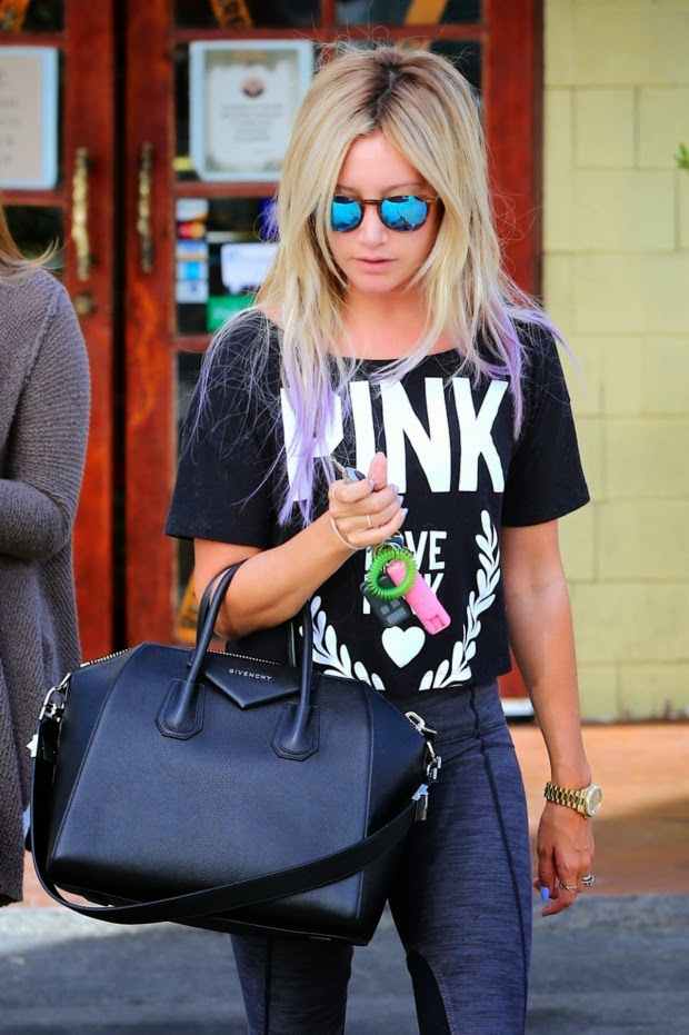 Ashley Tisdale at Coral Tree Cafe in Los Angeles
