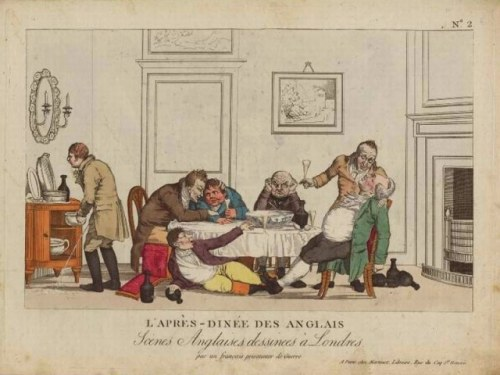 A Gentleman Demonstrating Correct Etiquette At An 18th Century English Dinner Party Image From Jane Austens World