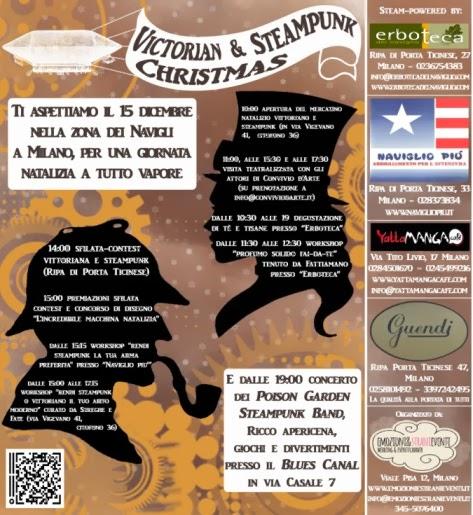 Victorian and Steampunk Christmas, domenica 15 dicembre mercatini e musica a Milano
