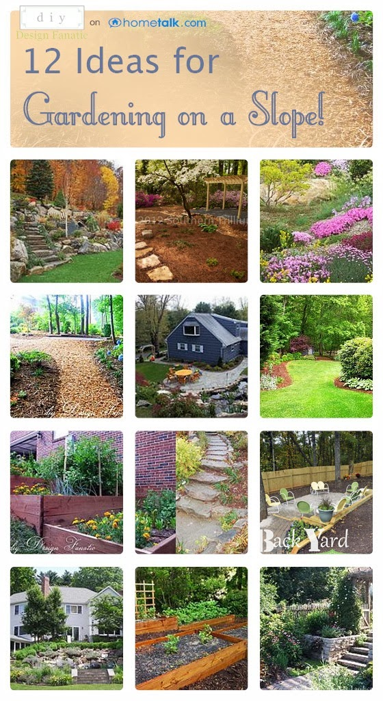 Diy design fanatic 12 ideas for landscaping on a slope - Ideas for gardens on a slope ...