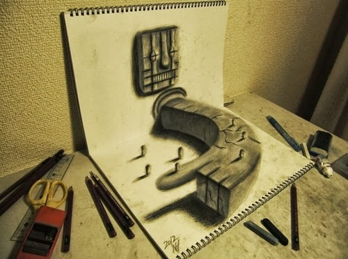 08-NAGAI-HIDEYUKI-Hide-永井-秀幸-3D-Pencil-Drawings-www-designstack-co