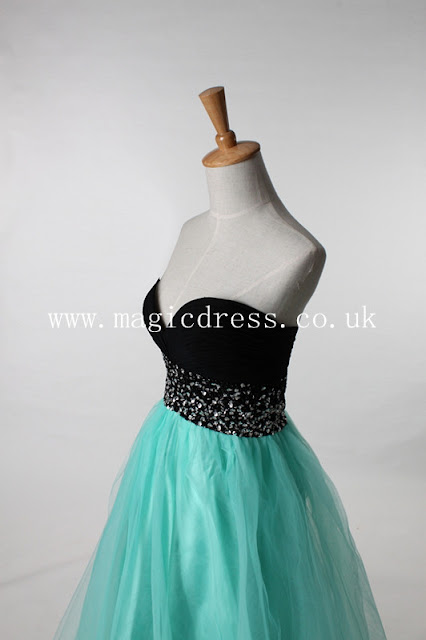 green Ball Gown Long Prom Dress