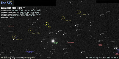 Ison update from the Sky Live