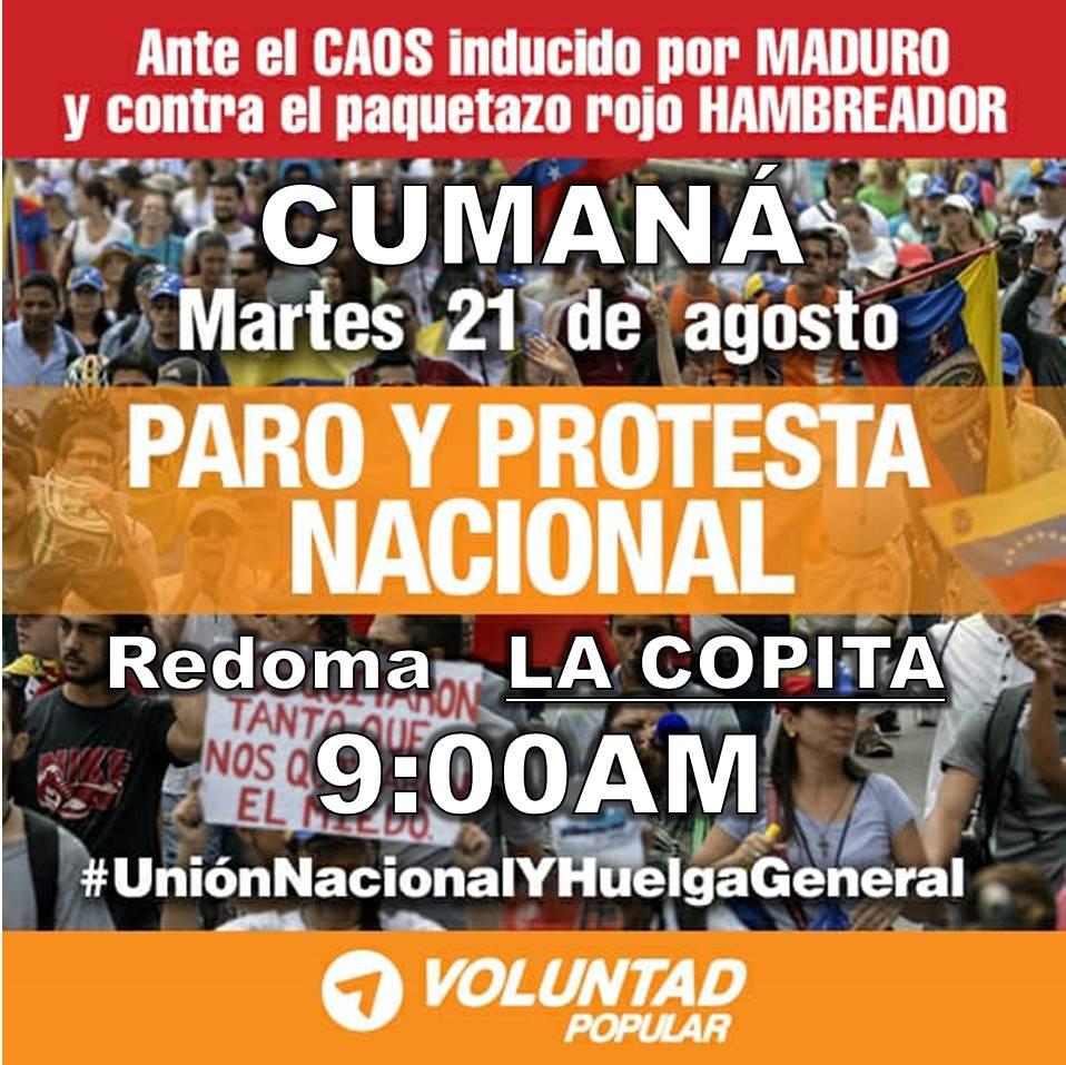 21 de agosto, 9h00: Venezuela