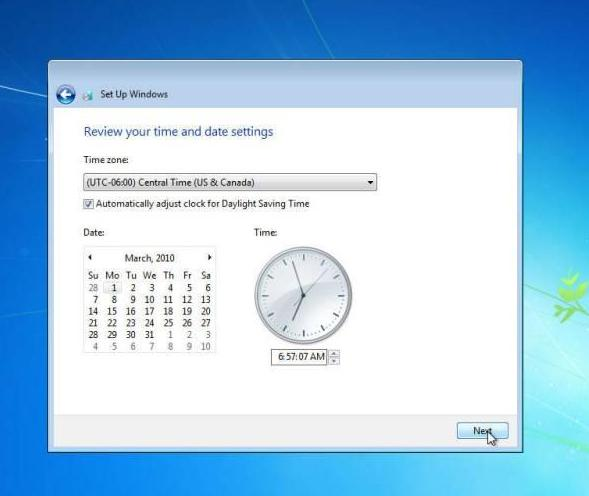 cara instal windows 7 pengaturan waktu