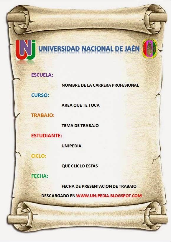 Modelos De Caratulas Universitarias Para Rellenar Imagui Caratula