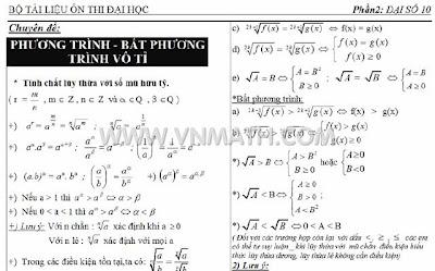 phương trình vô tỷ, bất phương trình vô tỷ